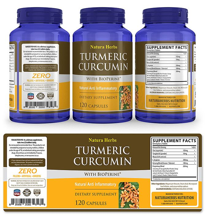 Turmeric Curcumin Supplement Label Template HttpWwwDlayouts