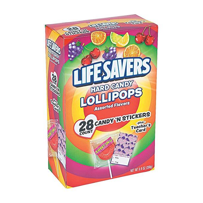 Fun Express Valentine Life Savers Exchange Pops For Valentine S Day Edibles Sucker Pop Suckers Lollipop Hard Candy Lollipops Hard Candy Life Savers