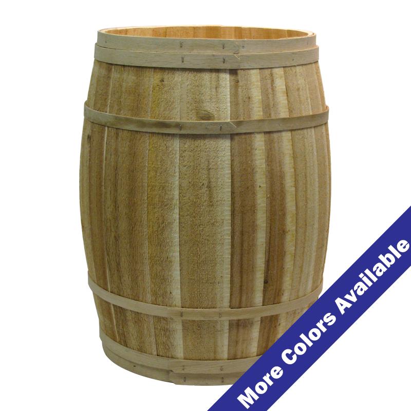 18 Diameter X 30 High Cedar Barrel Wooden Barrel Grain Storage Barrel