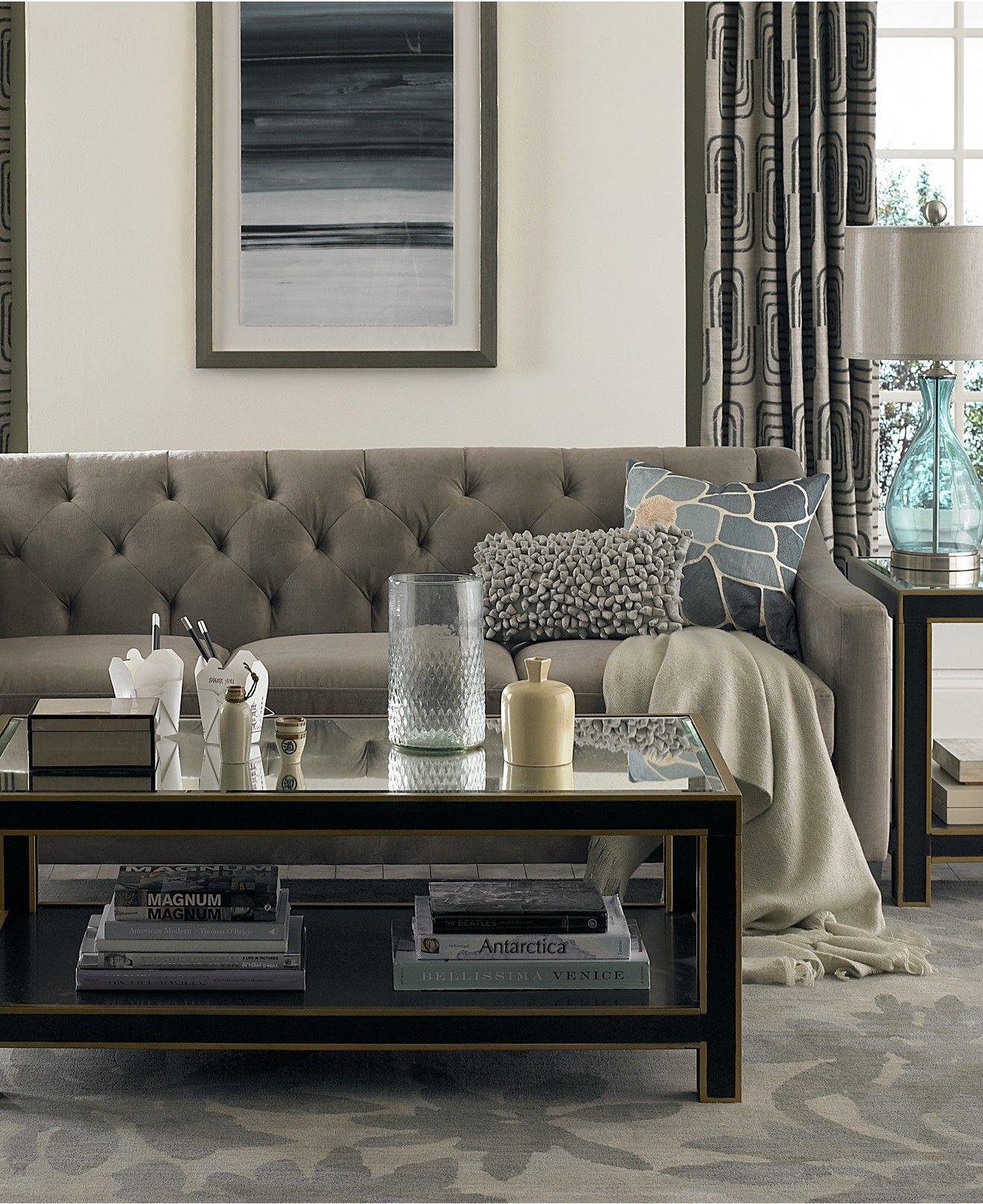 Chloe Velvet Tufted Sofa Custom Colors Couches Sofas Furniture Macy S