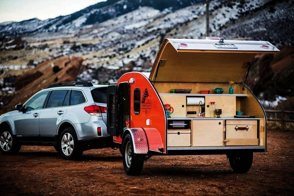 Small Camper Trailers in Your Price Range -  A Timberleaf tear drop camper trailer  -8 Best Small C