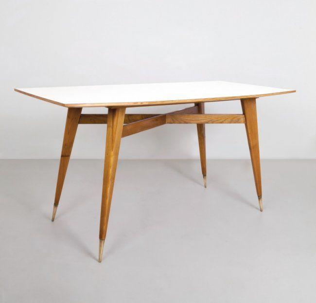 GIO PONTI Un tavolo, anni \'50. Legno di on | gio ponti | Pinterest ...