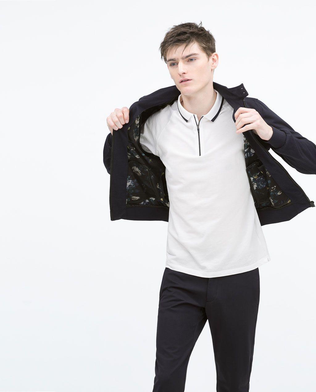 ZARA - PROMOCIJA - Knit jacket floral lining