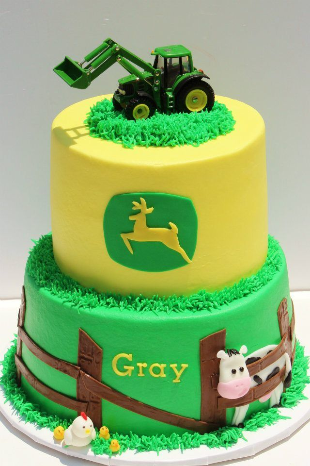 John Deere cake | Becketts 1st Birthday Ideas | Pinterest | Cake ...