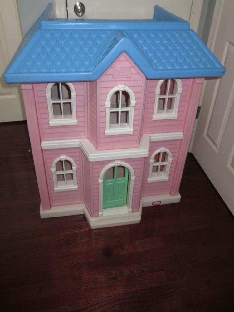 Little Tikes Victorian Mansion Large Barbie Dollhouse Pink Rare