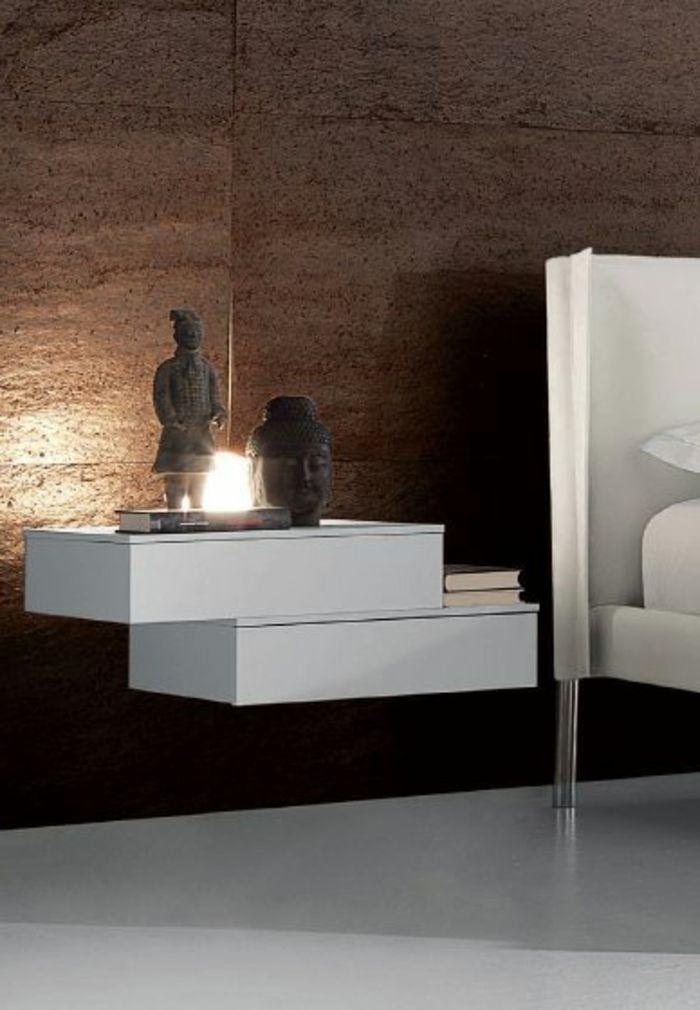 Dank Dem Nachttisch Zum Einhängen Können Sie Eine Zeitgenössische Und  Minimalistische Ausstrahlung Im Schlafzimmer Schaffen.