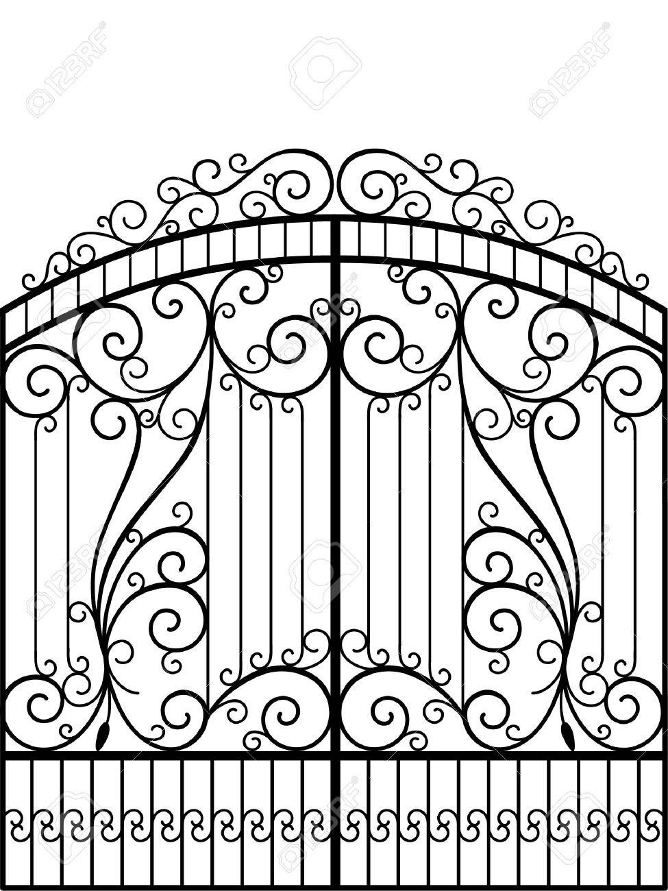 Puerta de hierro forjado, puerta, valla | Hierro forjado | Pinterest ...