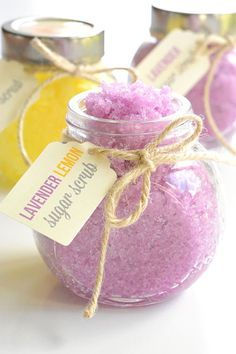 To get the soft, glowing, and tight skin you don't need a chemical scrub. This homemade sugar scrub will do this, moreover, it'll leave your skin with a soothing lavender scent!