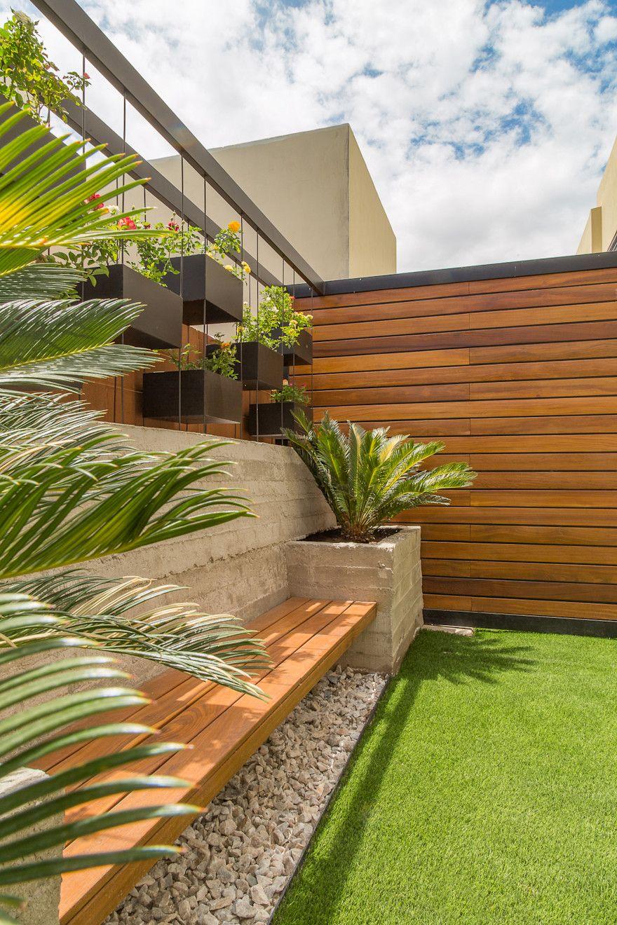 rea Exterior CAF de S2 Arquitectos is part of Backyard garden design, Backyard, Backyard landscaping, Backyard patio, Terrace garden, Modern garden - Encuentra las mejores ideas e inspiración para el hogar  Área Exterior CAF por S2 Arquitectos   homify