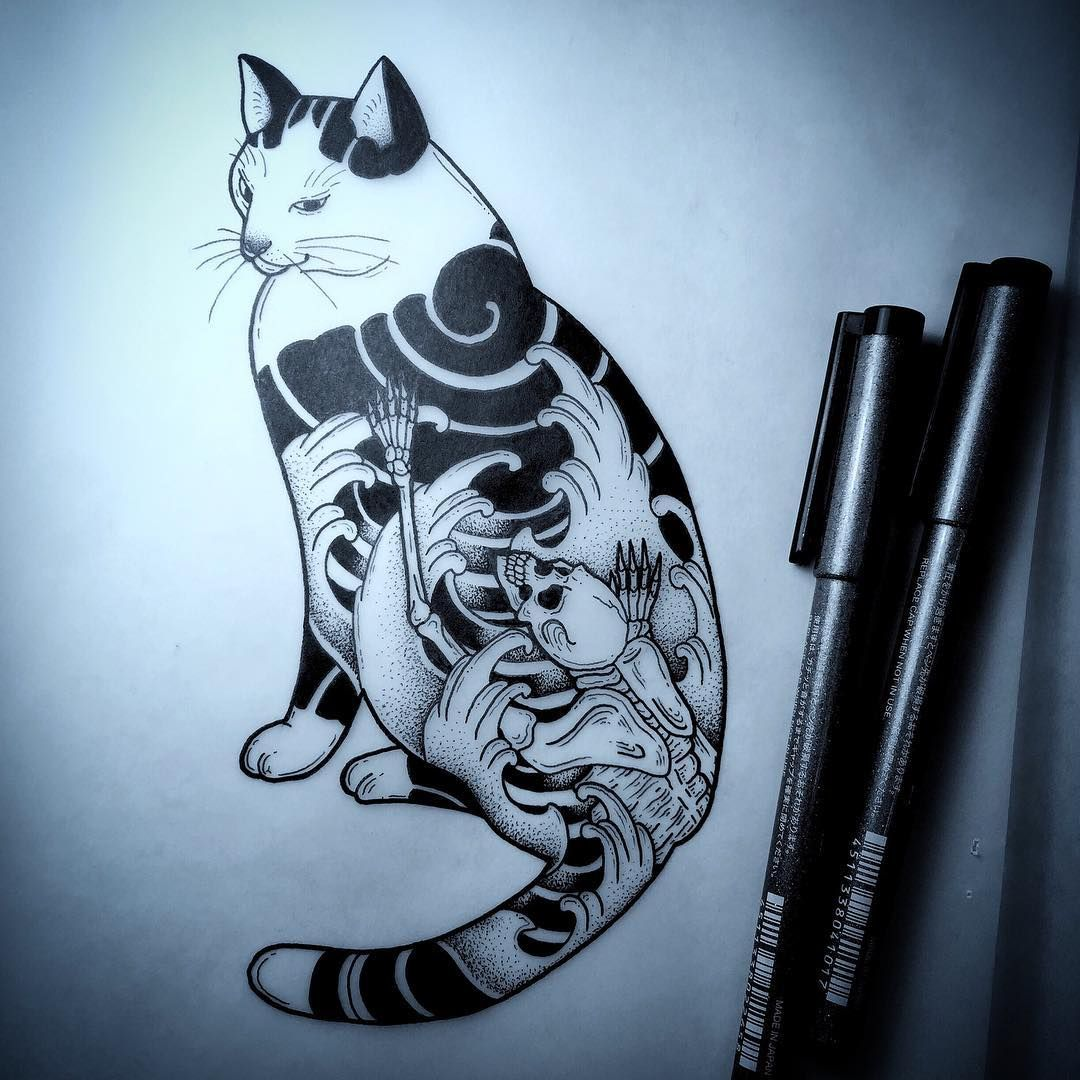 "501 mentions J'aime, 8 commentaires - Clifford Wong (@wongplacewongtime) sur Instagram : ""What's good 2017! Another #monmoncat inspired by the great Horitomo, done up for a client! Really…"""