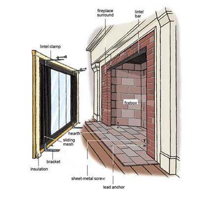 How To Install Glass Fireplace Doors Fireplace Glass Doors