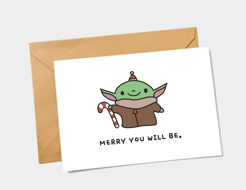 Star Wars Christmas Card - Yoda Christmas Card - P