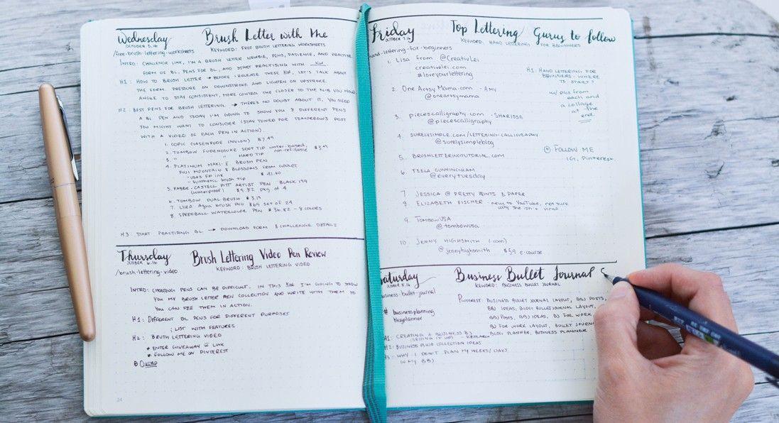 Setting up my Business Bullet Journal Bullet journal