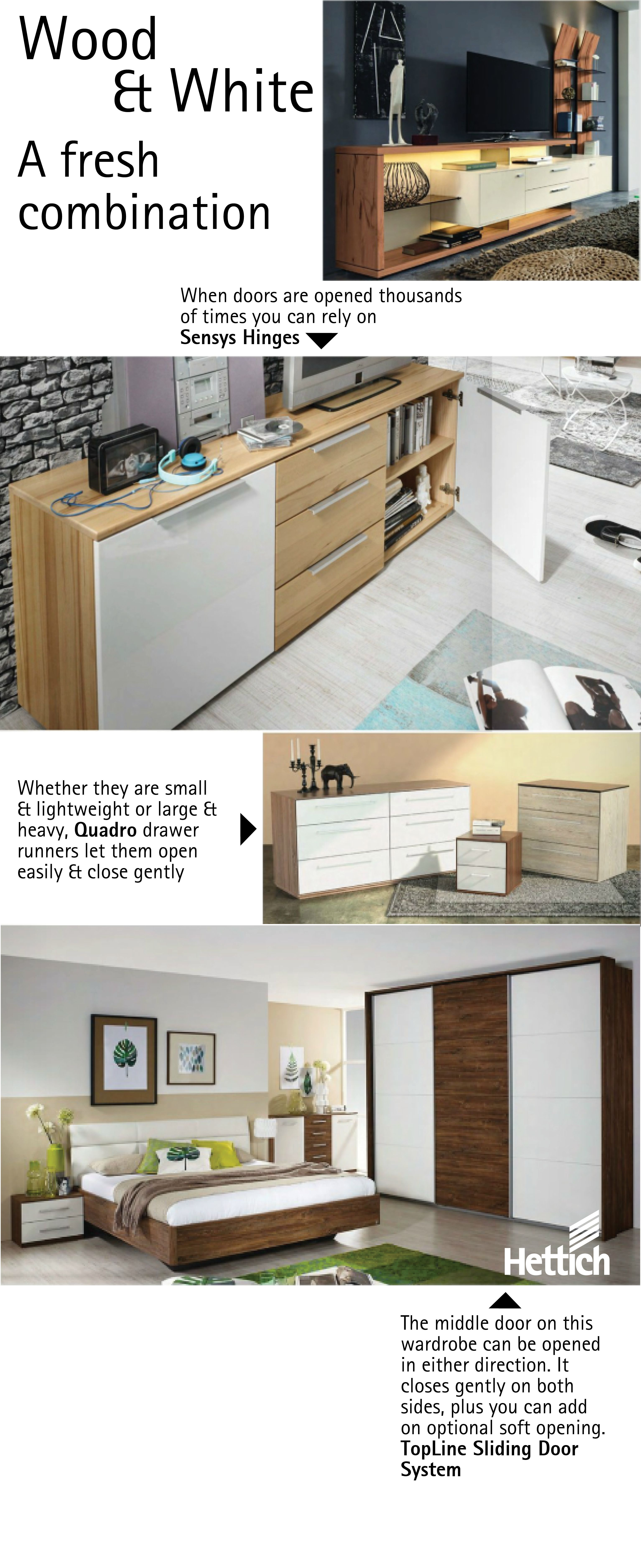 Hettich products can be used all over the house, from