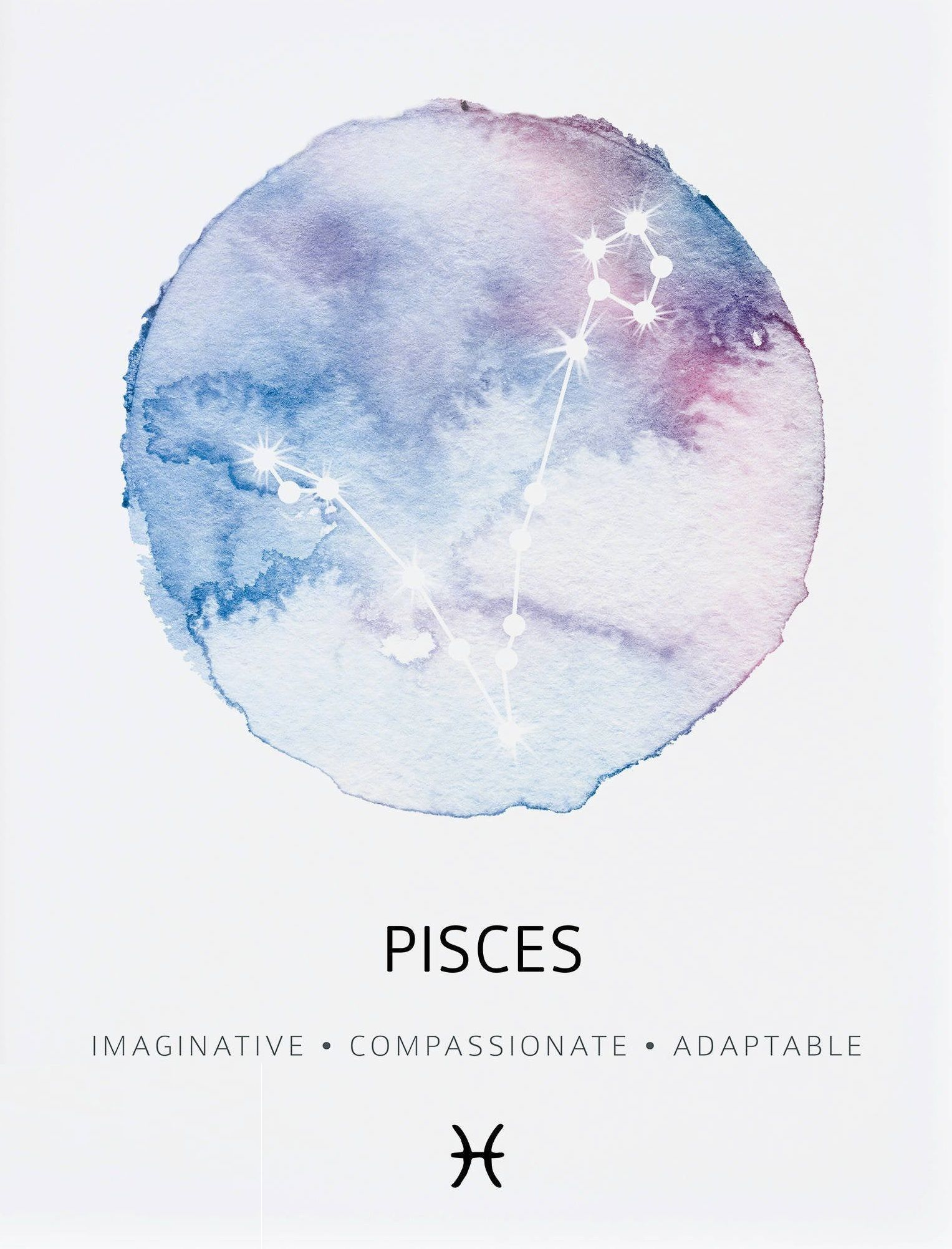 Pisces ~ imaginative, compassionate, adaptable