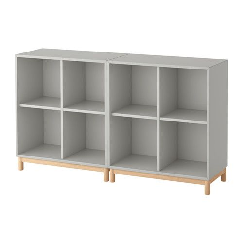 Eket Storage Combination With Legs Light Gray Projets
