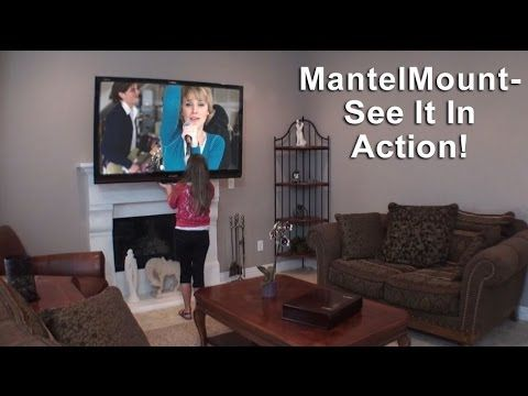 Pull Down Tv Mount For Flat Screen Over The Fireplace Mantelmount Com Tv Mount Over Fireplace Tv Above Fireplace Brick Fireplace Makeover