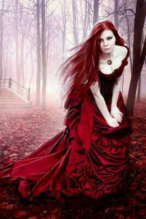 Gothic Art - Girl In A Forest