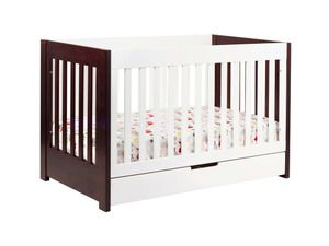 Babyletto Mercer Modern Crib with Toddler Rail in Two Tone | My Urban Child -