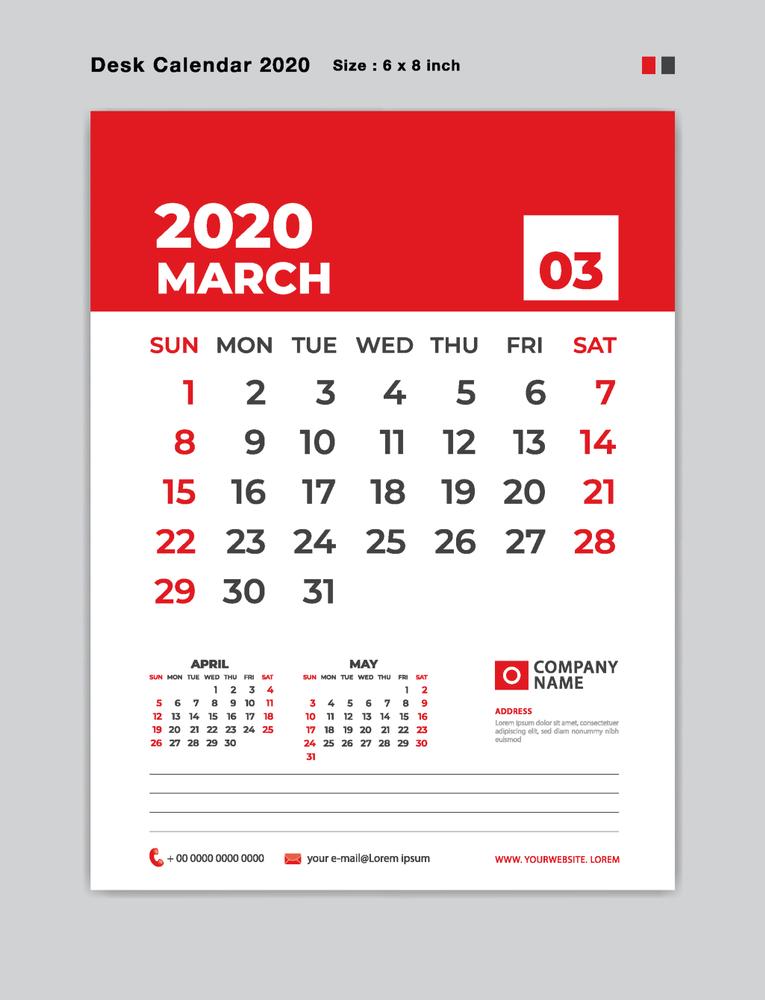Editable Monthly Calendar Template Free