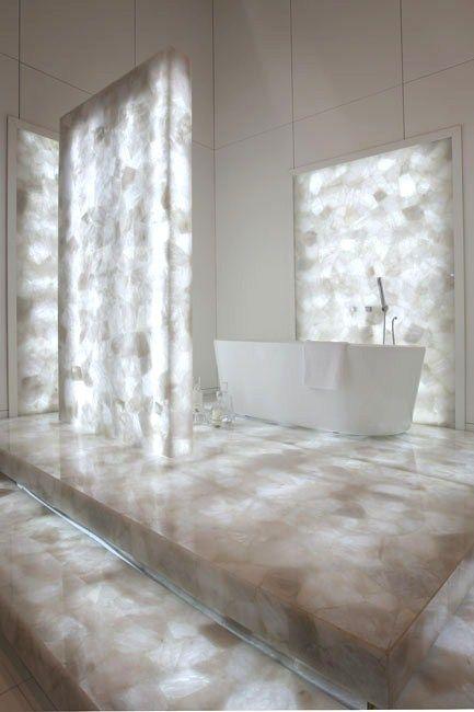 Backlit Concetto Stone Bath Home Decor Bath Stone