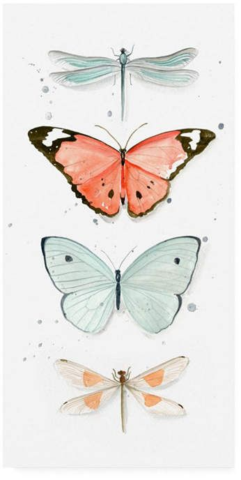 Trademark Global Jennifer Paxton Parker Summer Butterflies I Canvas Art - 15