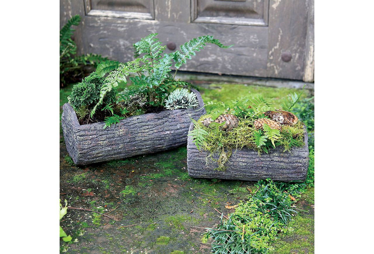Best Three Rooms — Log Planter Looks Pretty Natural…Found 400 x 300