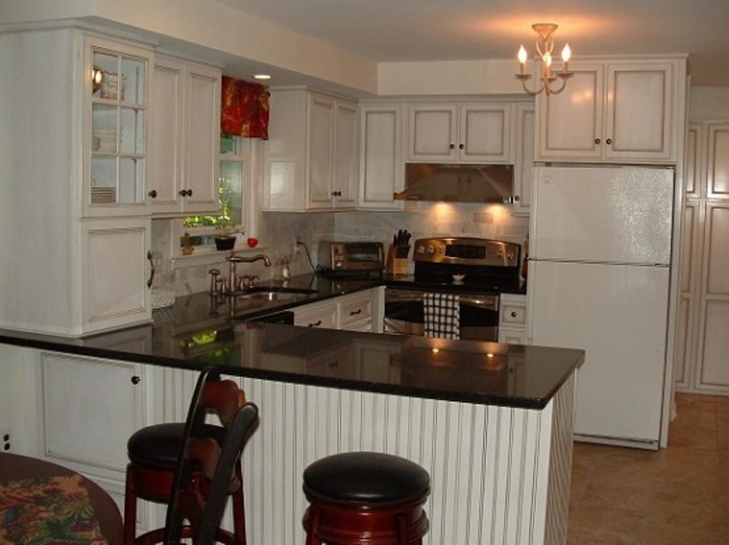 Black White Small U Shaped Kitchen Design Ideas Facebook Twitter Google Pinterest Stumbleupon