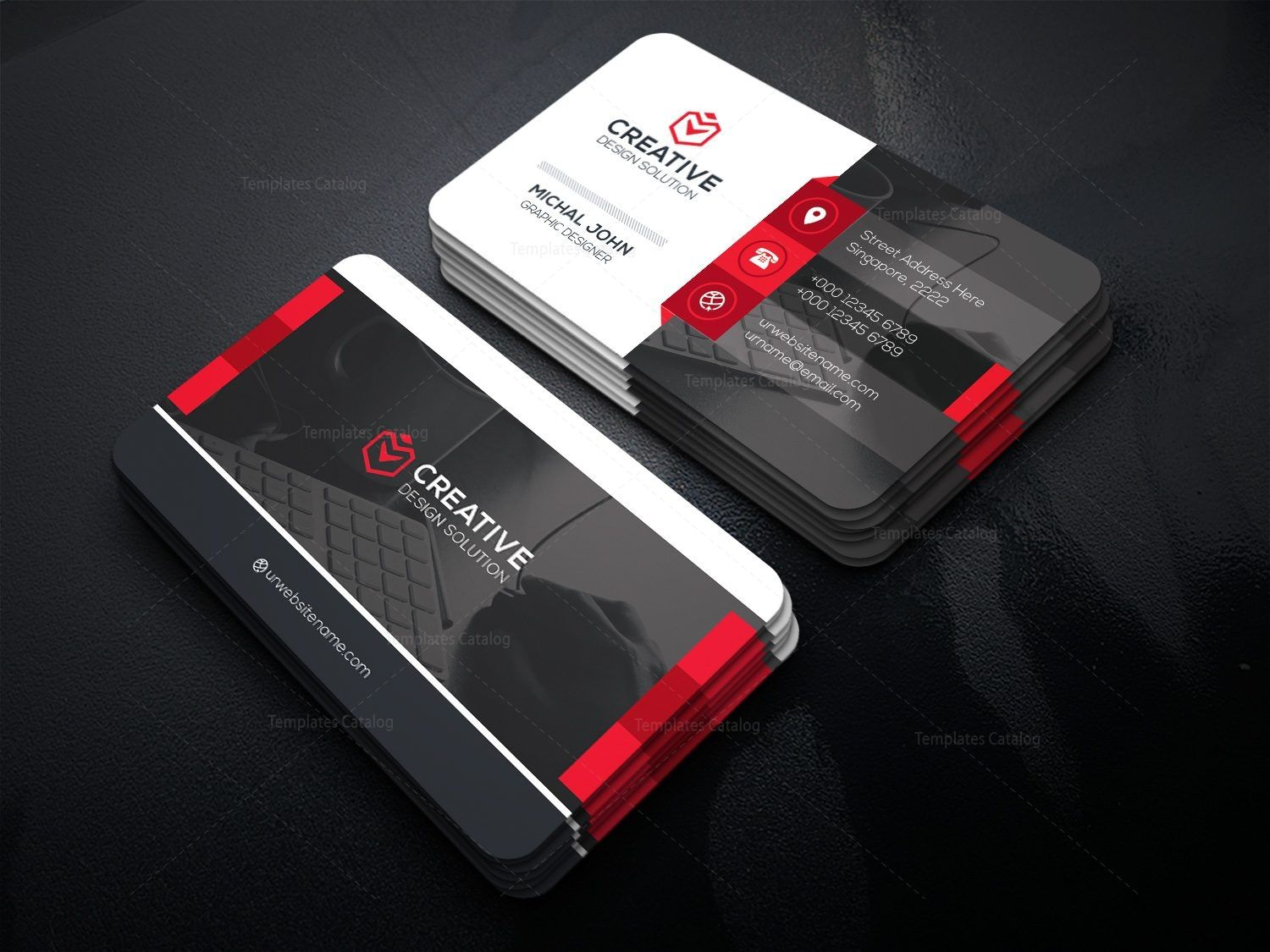 Office Business Card Template Card 000477 Business Cards