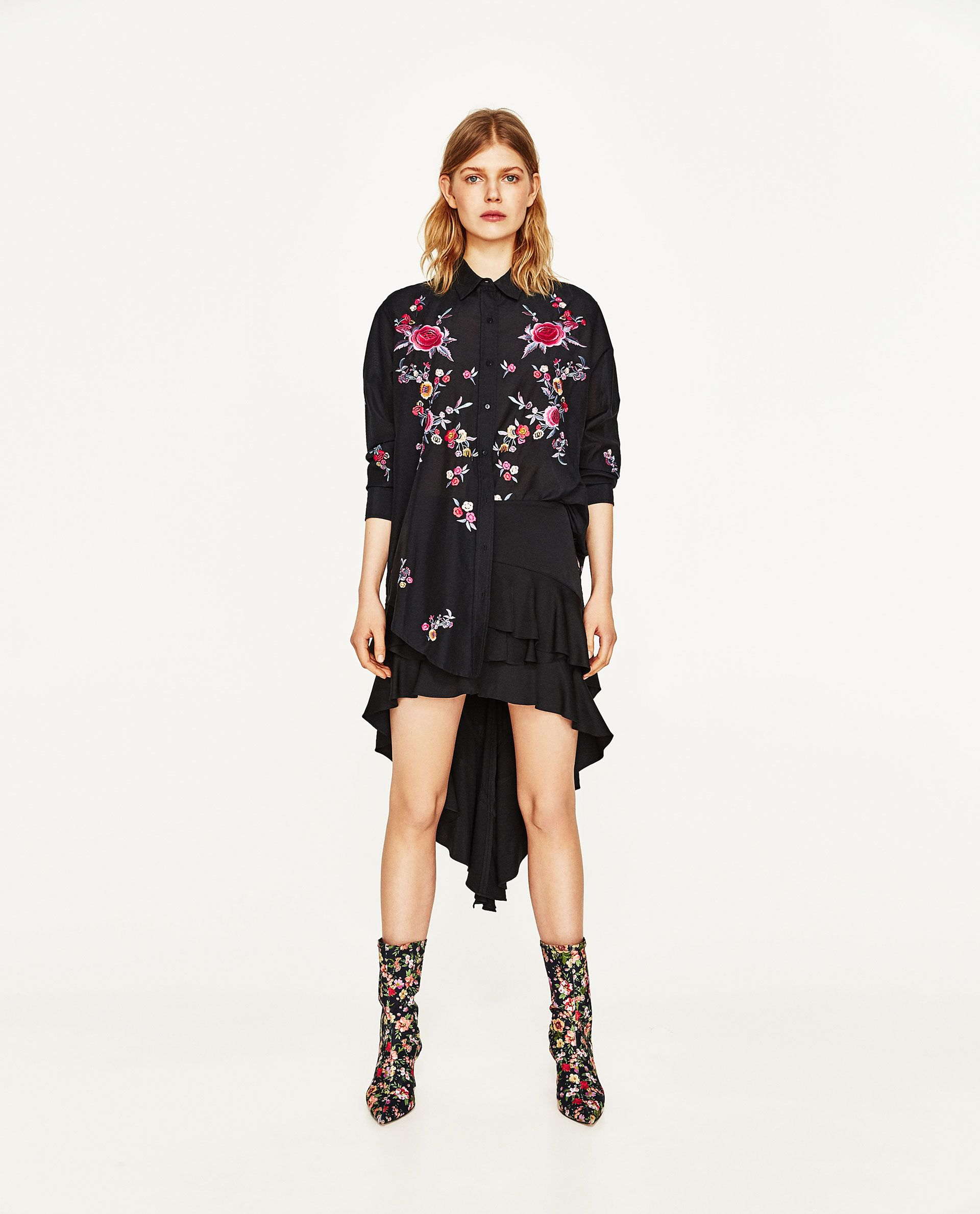 af5cced687afbb ... Women's Clothing, Tops & Blouses. ZARA - WOMAN - FLORAL EMBROIDERY SHIRT
