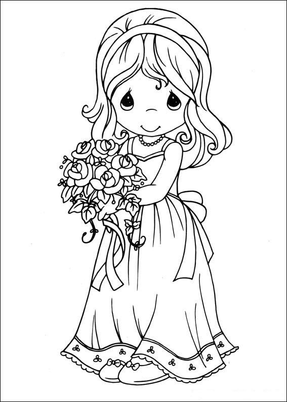 Coloring Pages Precious Moments Alphabet Others free printable