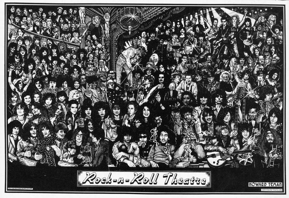 Rockn Roll Pictures Rock N Roll Theatre Poster Drummerworld