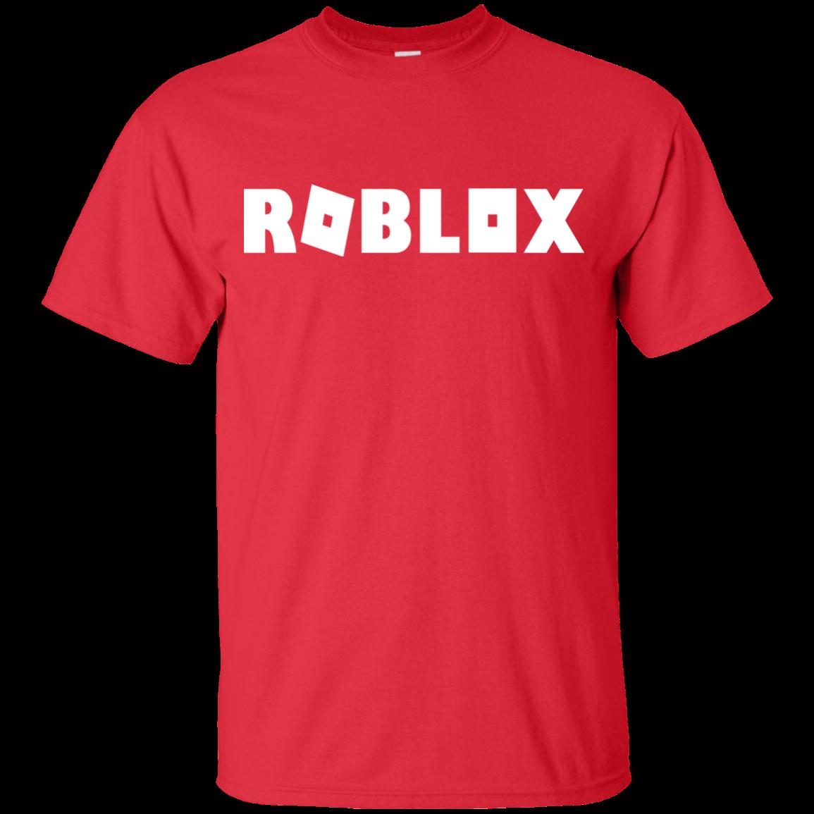 Roblox Logo White Boy\Girl Shirt Black Blue Red