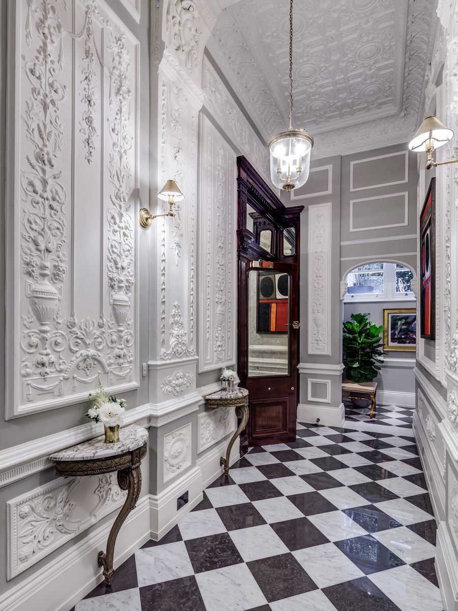 Entrance Hall Chequered Floor Hallway Development Listed Building Apartment Gatti