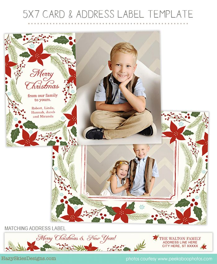 Christmas Holiday Card Templates For Photographers Photoshop Templates For Photographers Christmas Card Template Holiday Card Template Photo Card Template