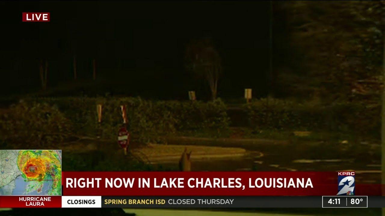 Hurricane Laura Brings Wind Rain To Lake Charles In 2020 Lake Charles World Weather Lake