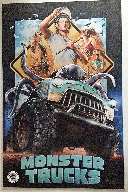 Monster trucks 11x17original promo movie poster cinemark