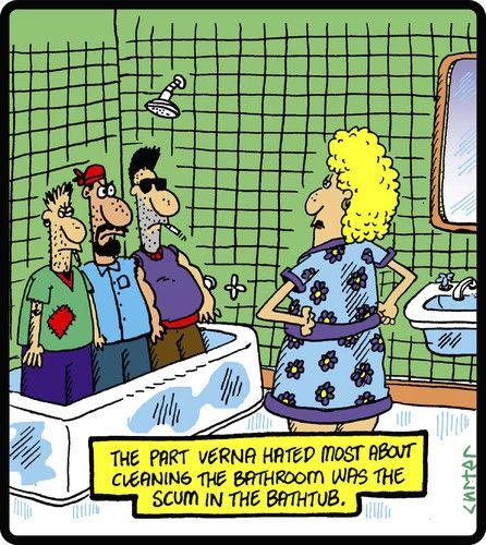 Cartoon Bath Scum Medium By Cartertoons Tagged Cleaning
