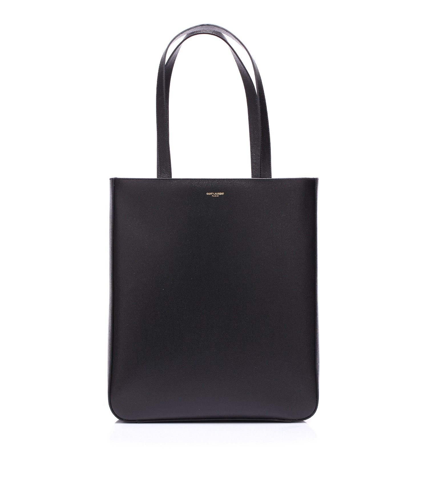 Leather bag like a shopping with hand-shoulder leather handles by @Yves Saint Laurent