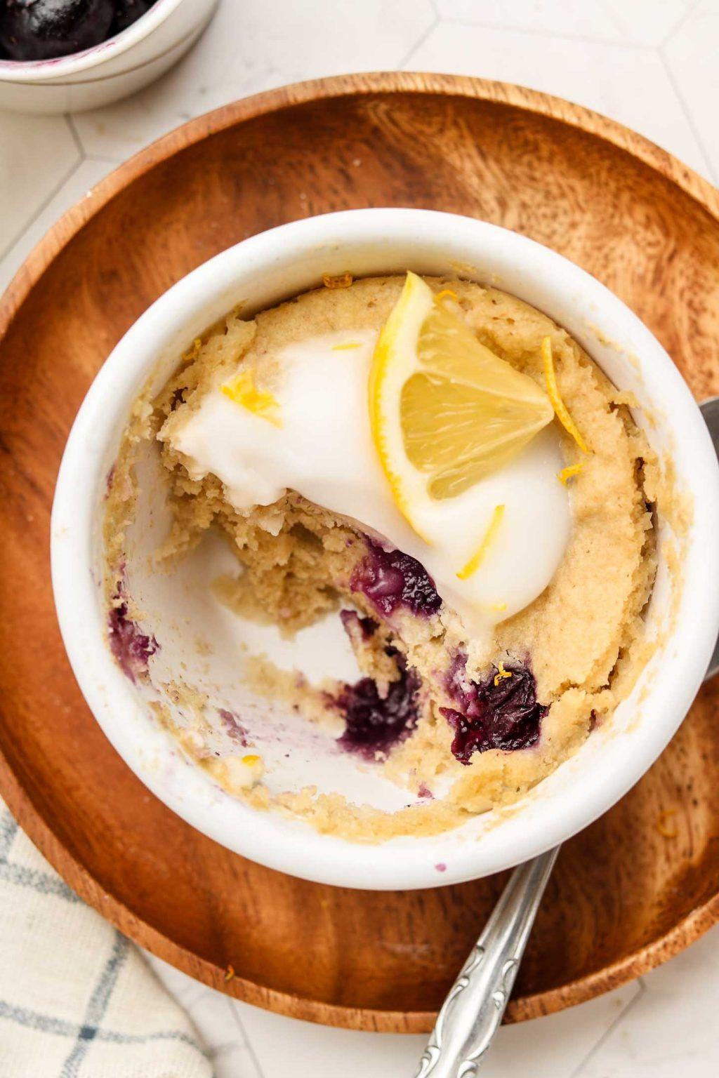 Easy Blueberry Lemon Mug Cake (Vegan + Gluten Free ...