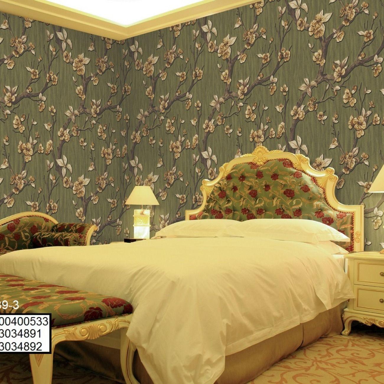 ورق جدران غرف نوم ورق حائط ريسبشن ورق الحائط Home Decor Home Bed