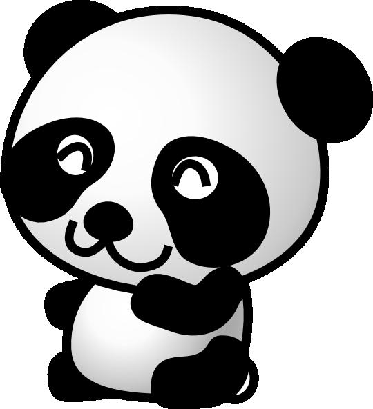 panda cartoon panda 7 clip art vector clip art online royalty rh pinterest com panda bear clip art for valentines day panda bear clipart black and white