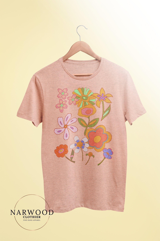 Women's Graphic Tees, Hippie Flower Tee, Wildflower Shirt, Cute Graphic Tees, Flower Shirt, Wild Child, Hippie Tee, Boho Tee
