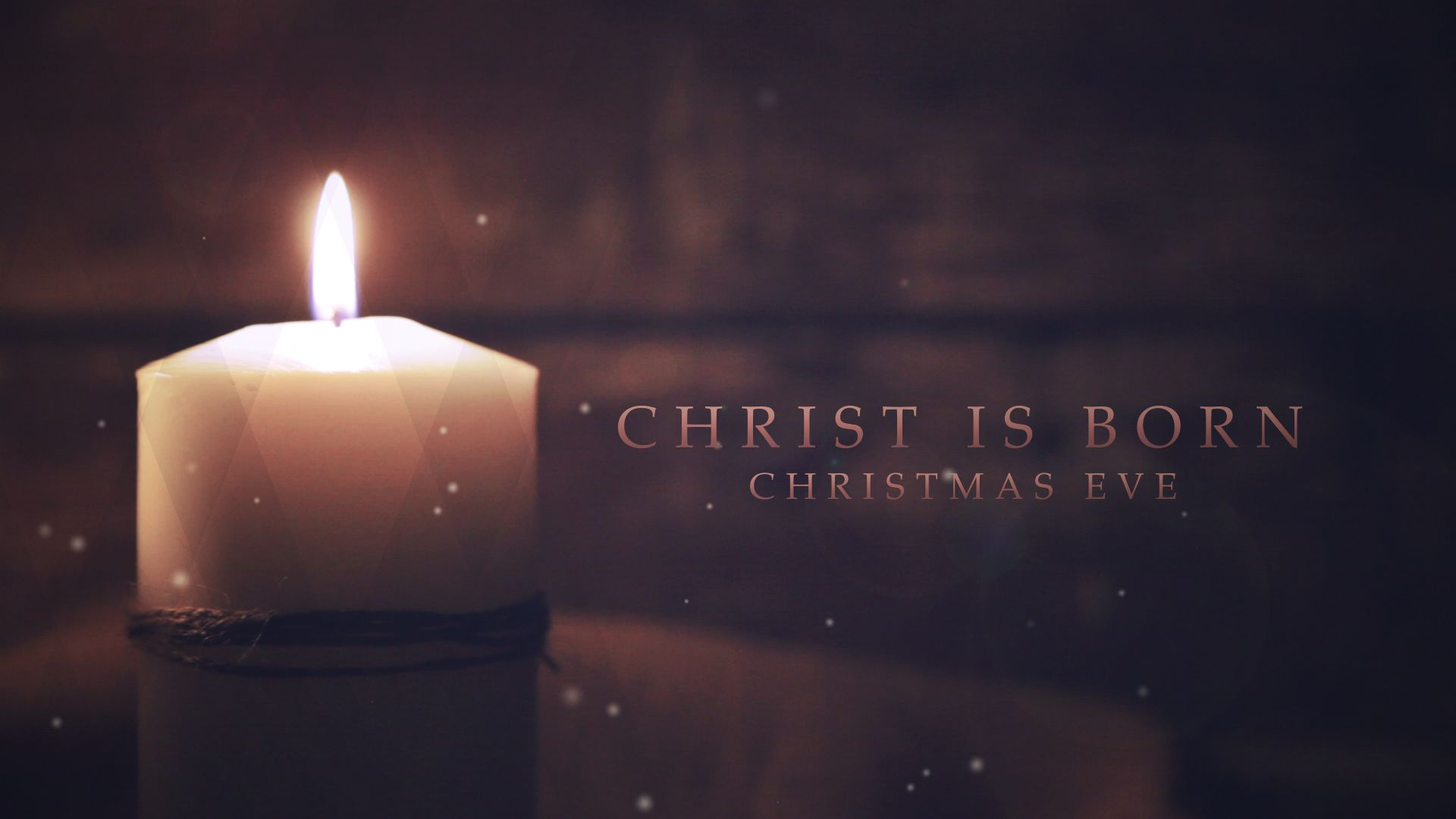 Christening Christ Candle With The Four Advent Candles Wallpaper