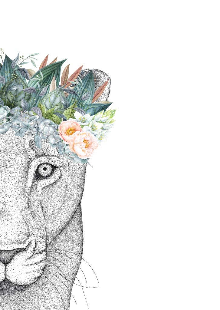 Half Of The Lion Face Tattoo Design Geometric Lion Tattoo Geometric Drawing Geometric Lion
