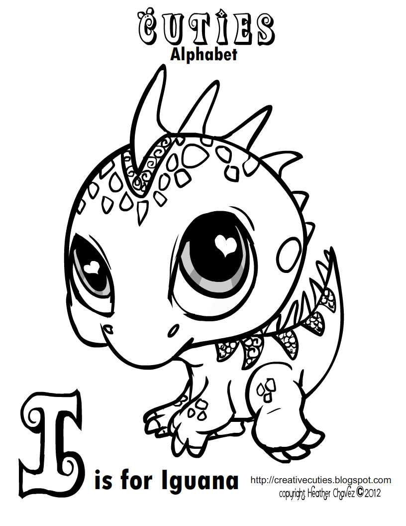 Creative Cuties Iguana Coloring page Coloring pages to