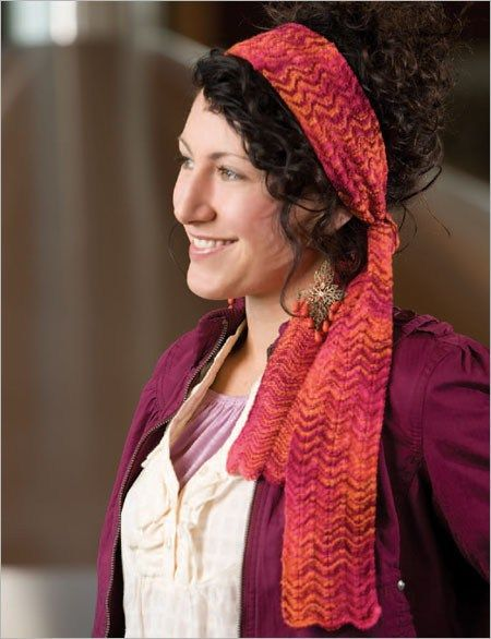 Chevron Head Scarf Knitting Pattern And More Headband Knitting