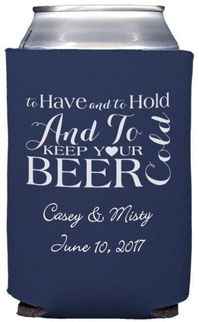 Custom Printed Neoprene Engagement Party Koozies (Set of 25) | Beer ...