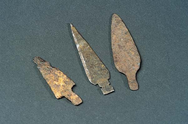 Trade points / arrowheads made from scrap metal  1800s, NM