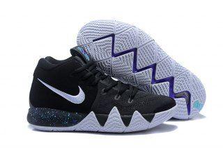 11b096cdc78c Zero Defect Nike Kyrie 4 Black Anthracite Light Racer Blue White 943806 002 Men s  Basketball Shoes